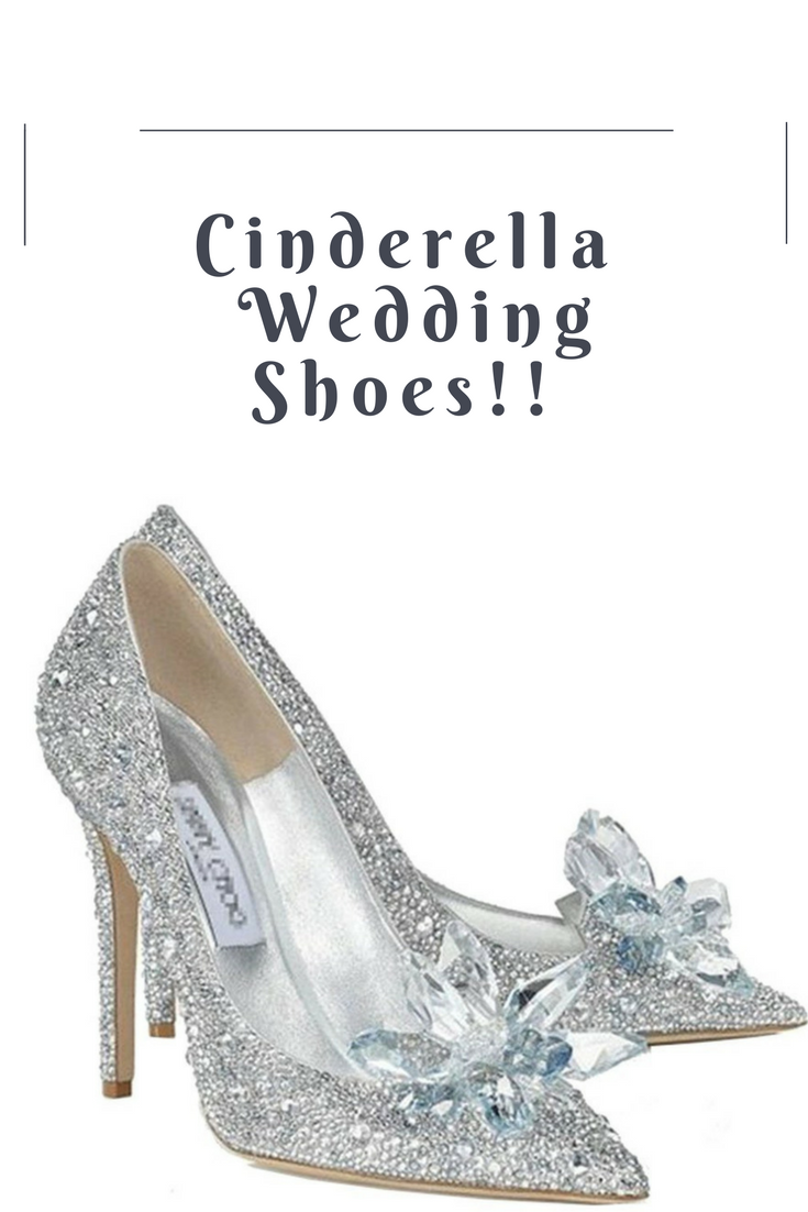 b5e31710979942 Cinderella wedding shoes! Wear glass slippers on your wedding day!! On  sale! Only £59.99