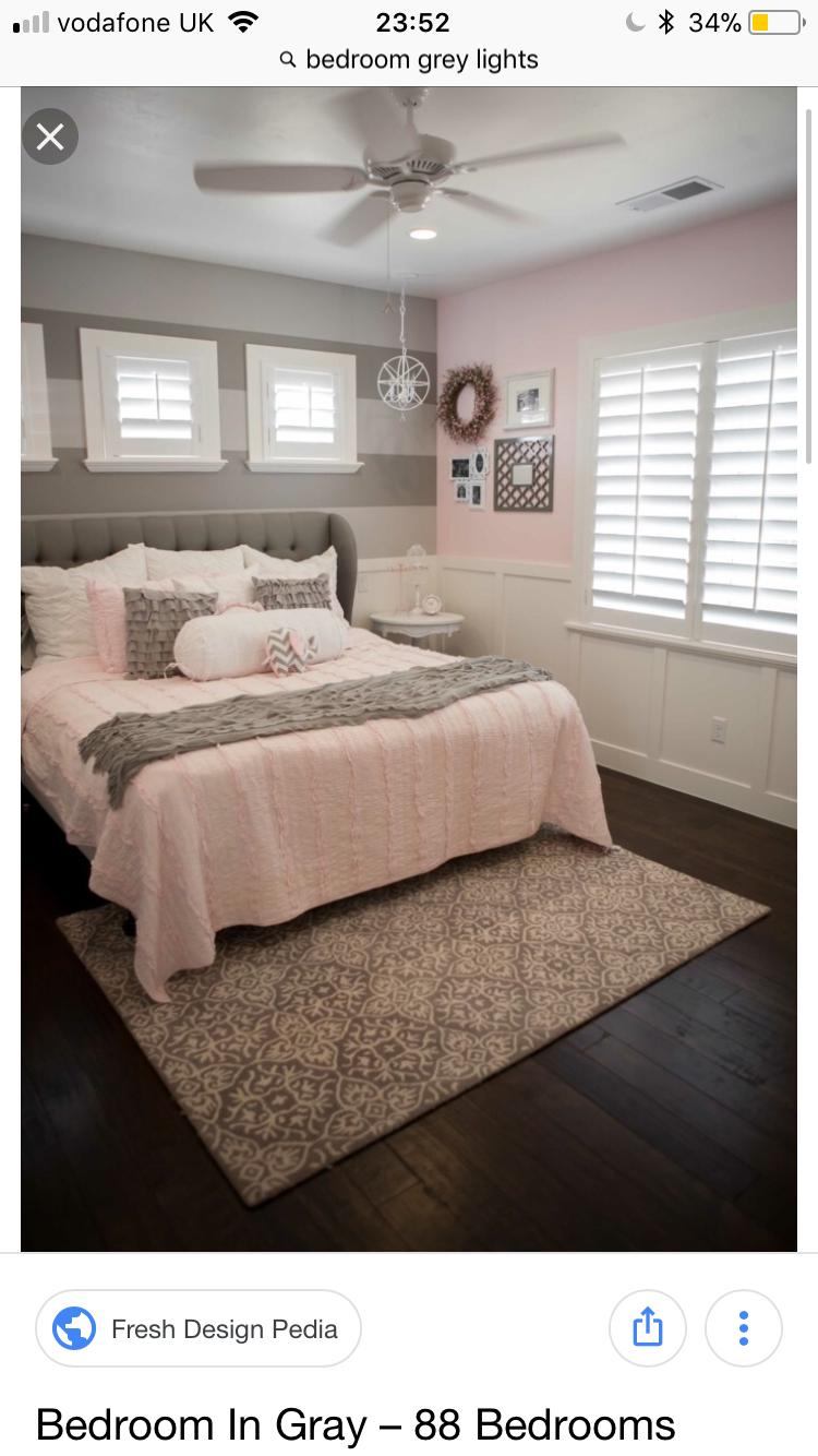Pin By Maddie On Room Pink Gray Bedroom Pink Bedroom Decor Grey Bedroom Design