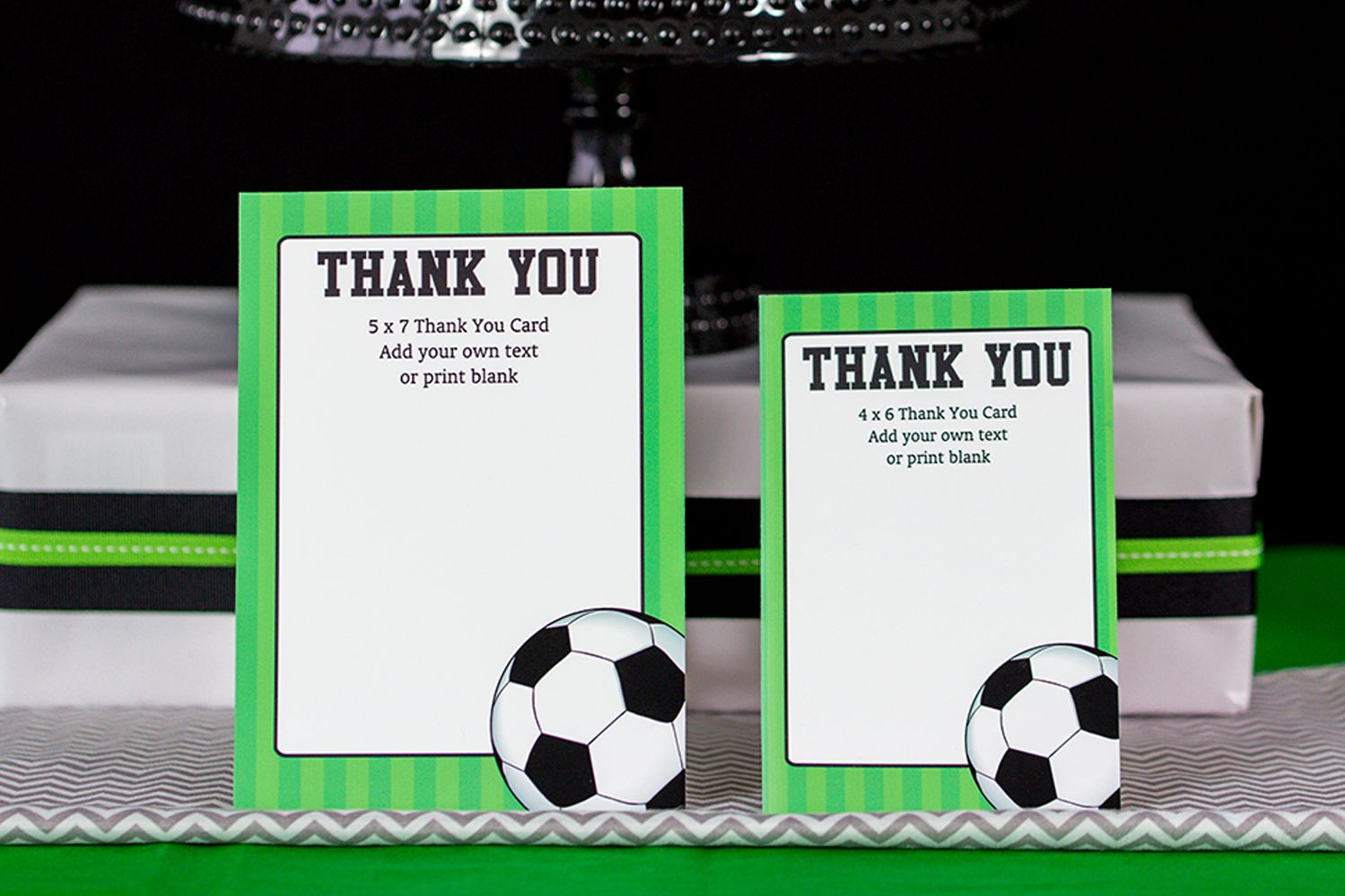Soccer Thank You Dalep Midnightpig Co Within Soccer Thank You Card Template Business Profession Soccer Party Decorations Thank You Card Template Your Cards
