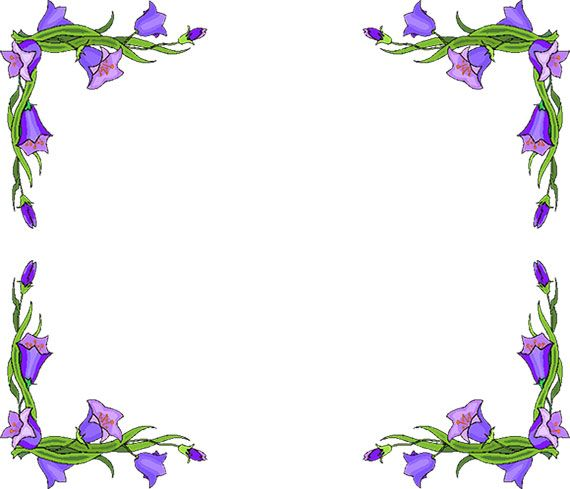 free flower borders flower border clipart clipart pinterest rh pinterest co uk borders flowers clipart clipart flower borders free