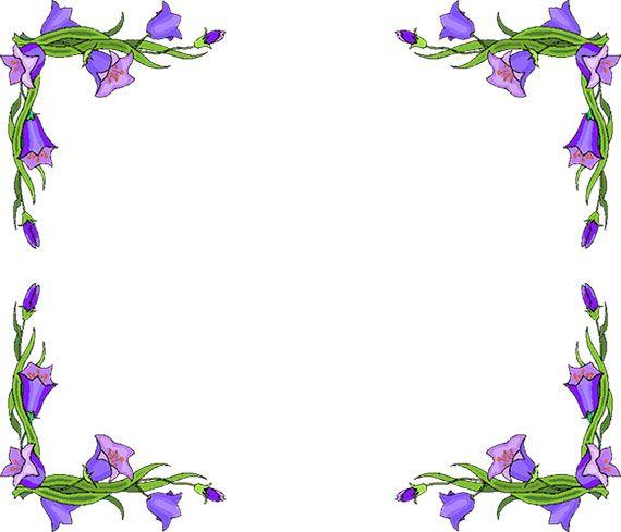free flower borders flower border clipart clipart pinterest rh pinterest com flower border clipart black and white flower border clip art black and white