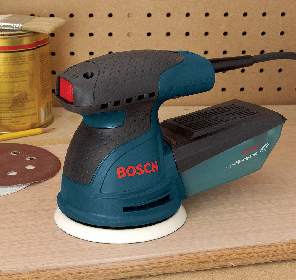 The Bosch Ros20vsc 5 Random Orbit Sander Polisher Furnishes An Optimized Combination Of Pad Orbit And Ro Best Random Orbital Sander Sanders Easy Wood Projects