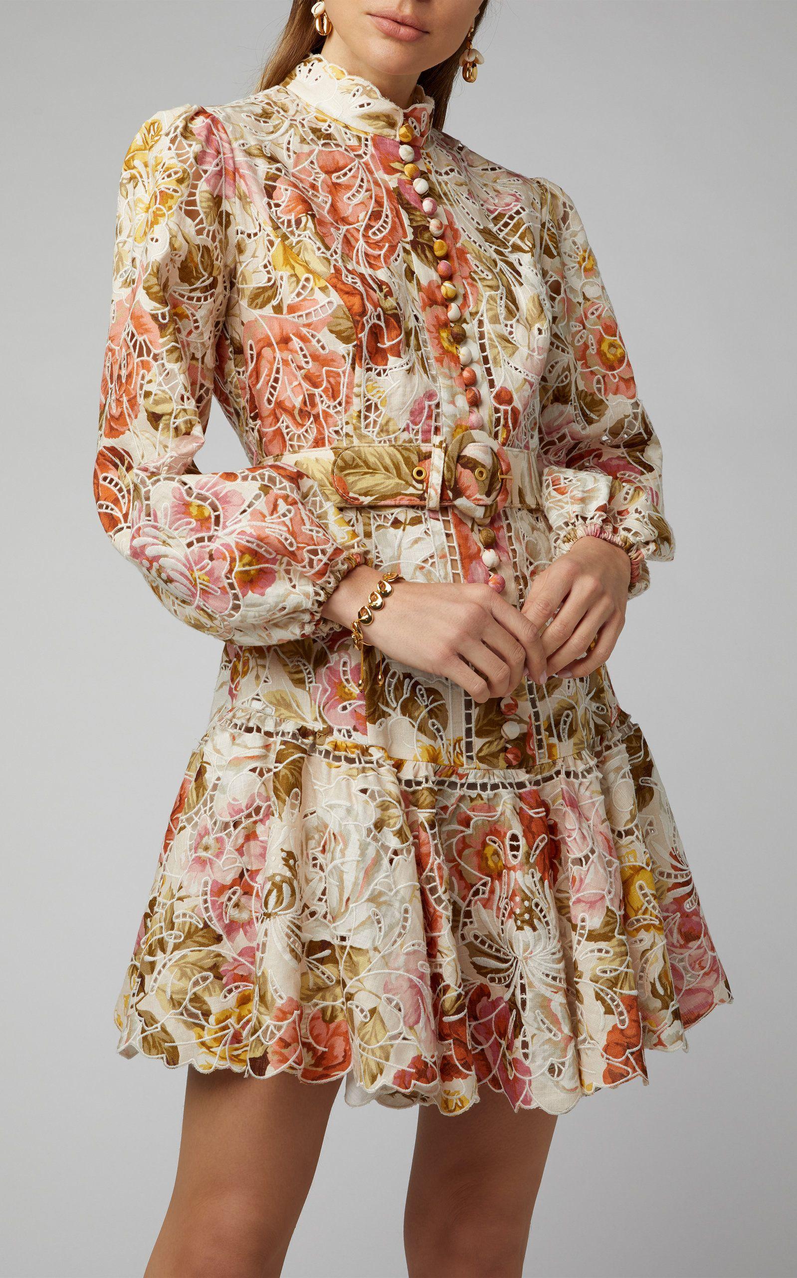 Zimmermann Bonita Floral-Print Linen And Cotton-Blend Mini