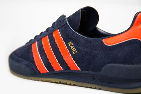 Adidas Jeans MK II trainers reissued in navy and orange as a Size  exclusive eabdbcff1c