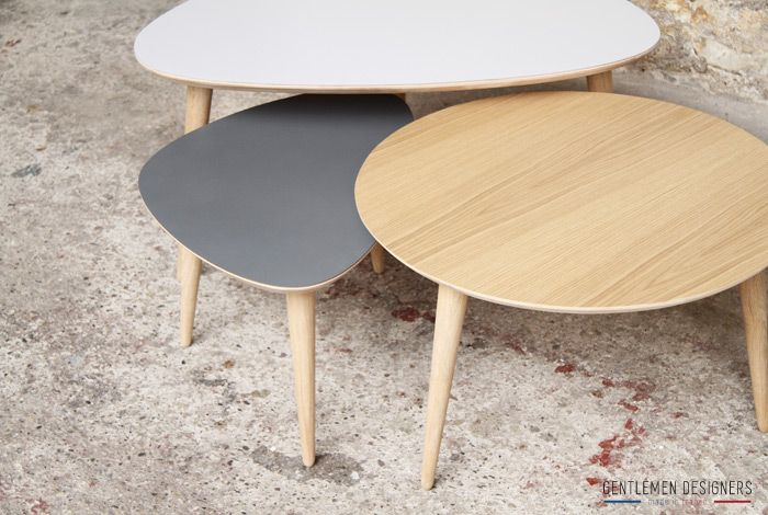 Tables basses trio ref tbt s 03 ux ui designer vintage for Table haute scandinave