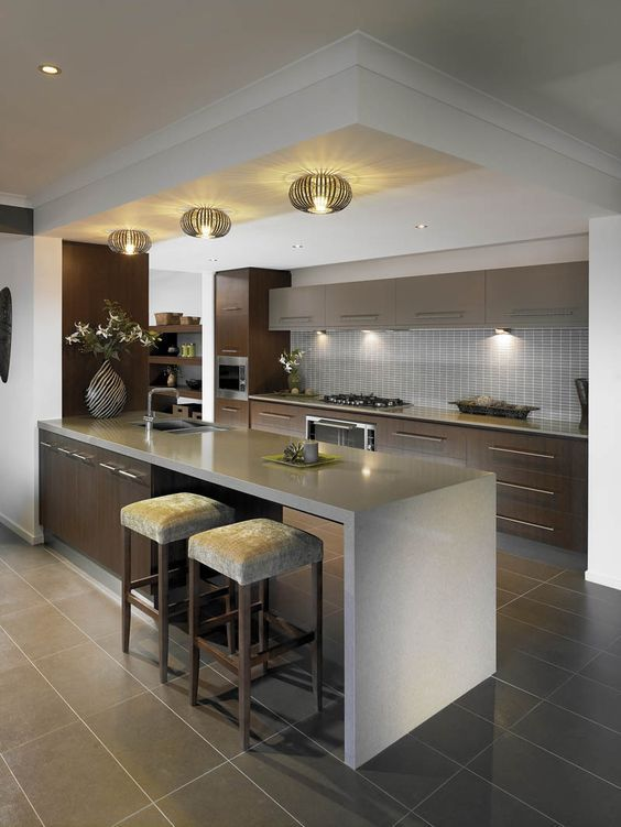 Cocinas modernas 2018 con barras islas r sticas for Islas de cocina con barra