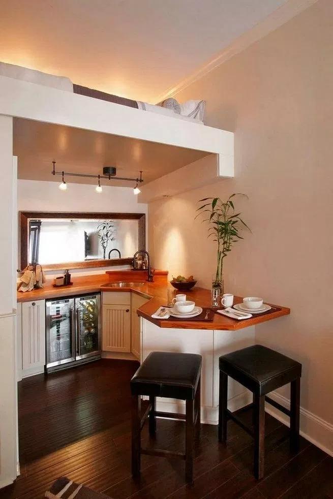 17+ Elegant First Apartment Small Kitchen Bar Design Ideas ...