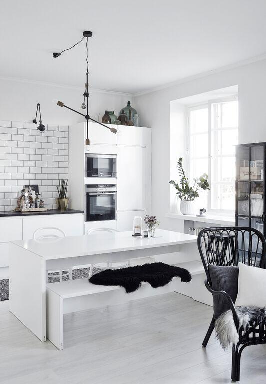 Modern, stylish home. Black and white interior
