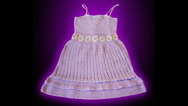 Crochet tutorial vestido solera, niña 2 años: parte 1 de 3 | Girls ...