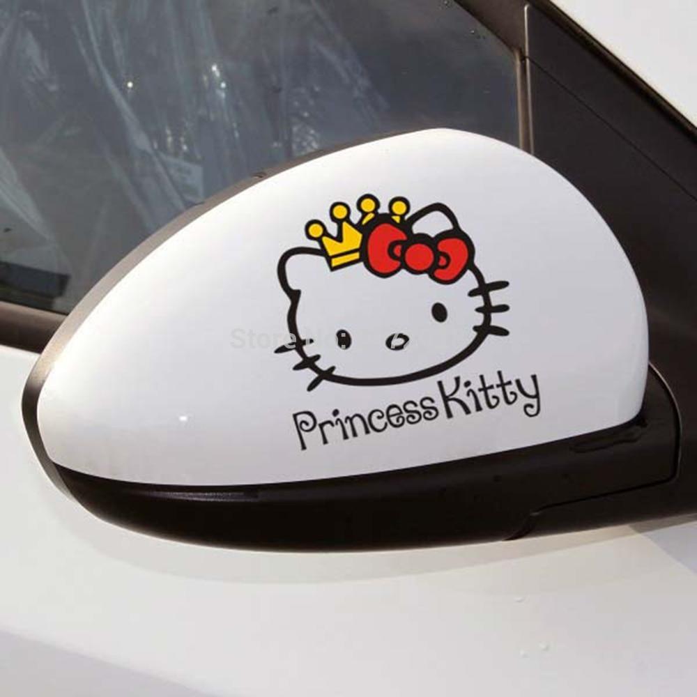 Hello Kitty Princess Vinyl Decal Hello Kitty Car Cute Car Decals Hello Kitty [ 1000 x 1000 Pixel ]