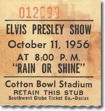 Elvis performed for over 27,000 fans at the outdoor Cotton Bowl concert in Dallas Texas in 1956.