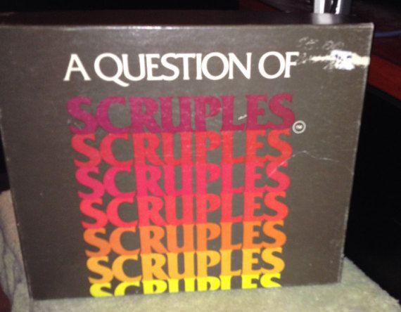 vintage c 1984 a question of scruples board game on wall street journal crossword id=42007