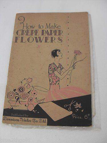 Vintage 1930s art deco crepe paper flower making craft book designs vintage 1930s art deco crepe paper flower making craft book designs patterns mightylinksfo