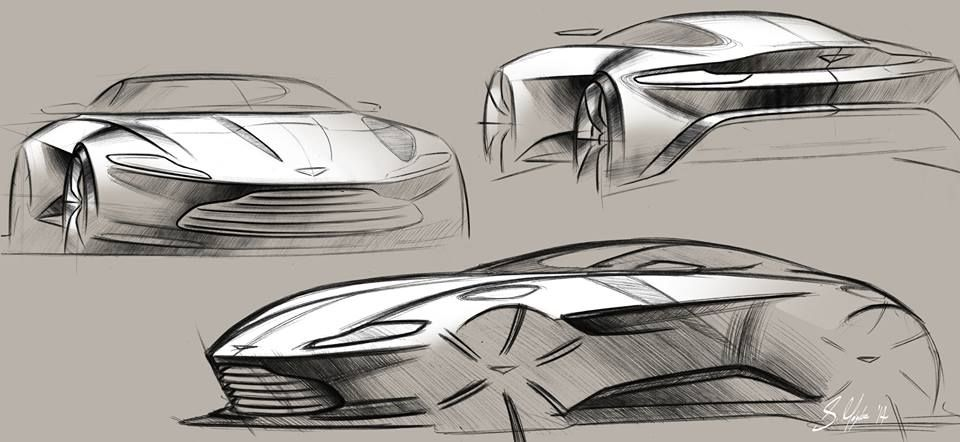 Aston Martin Db10 Concept Official Sketch By Sam Holgate Sketch