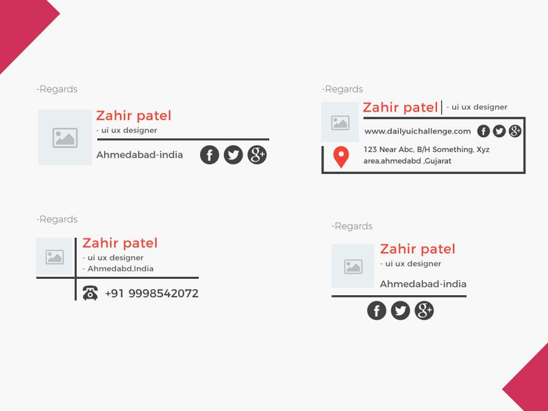 Email Signature Template Free UI Kits Pinterest Email - email signature template