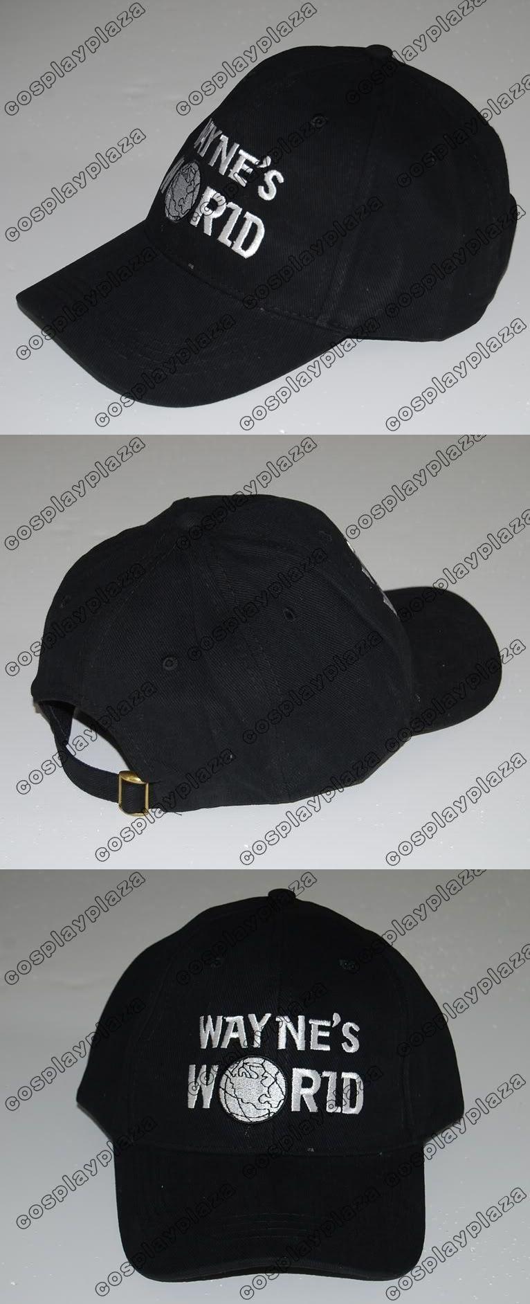 Black Wayne s World Hat Cosplay Waynes World Baseball Caps Earth Hats  Embroidered Trucker Dad Hat Unisex 363f86b5ece