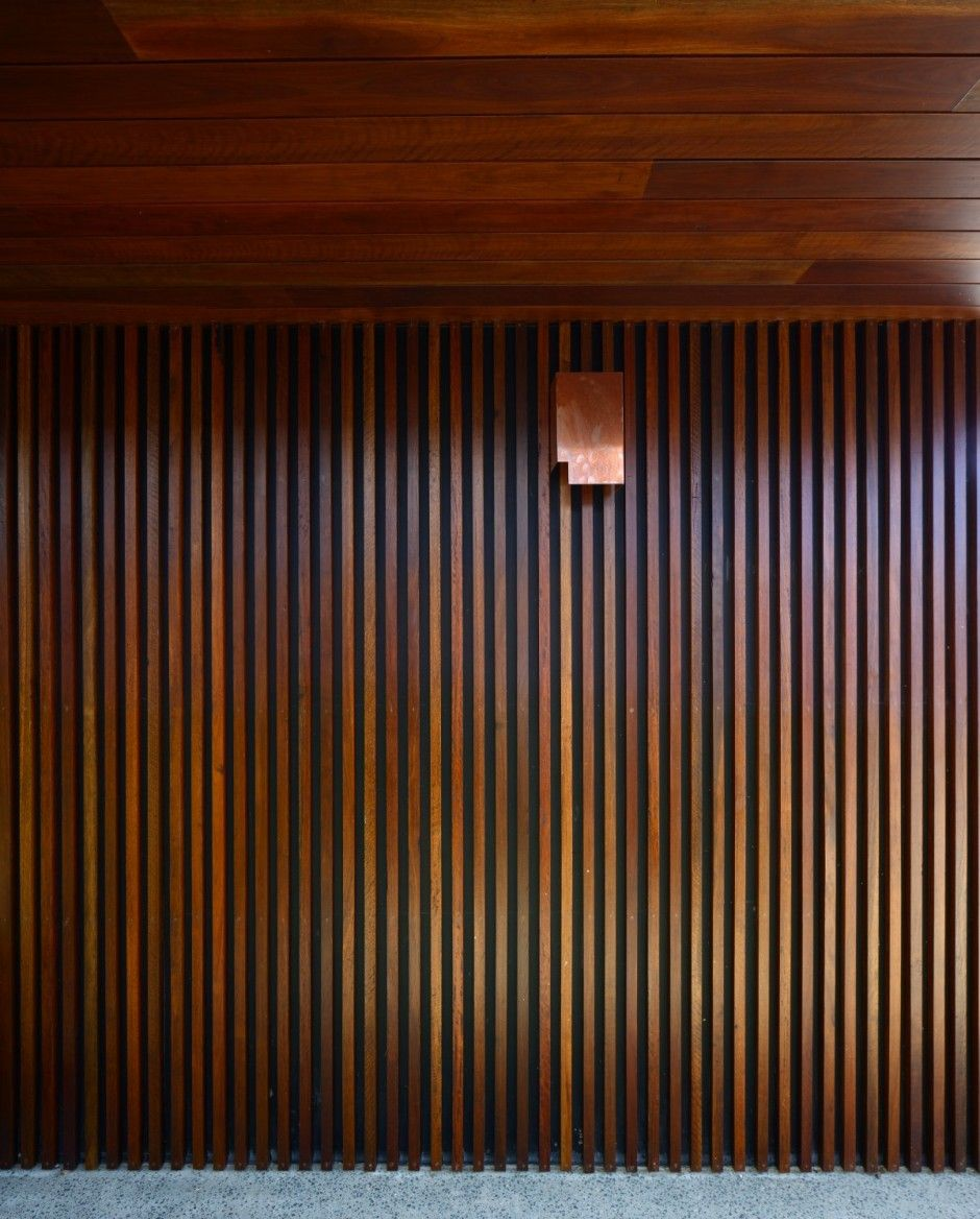 Wood paneling updated in a someday sorta way Street