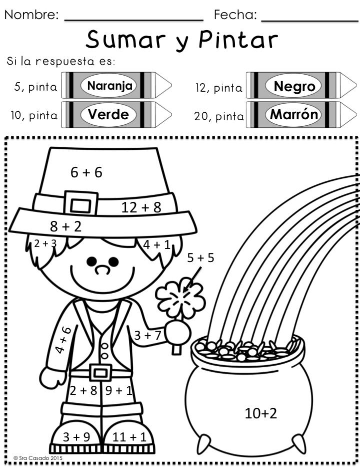 fun st patrick's day packet with math and language arts