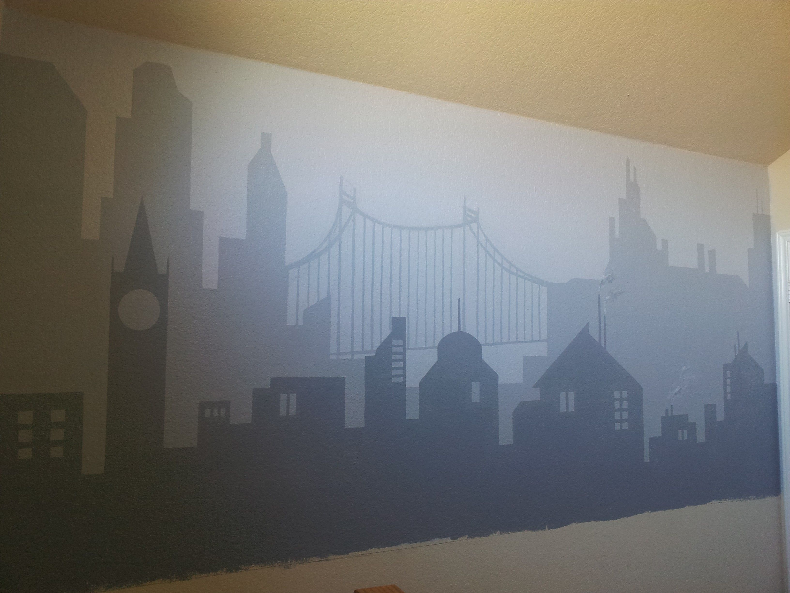 Best Gotham City Kids Mural Kids Room Murals Superhero Room 400 x 300