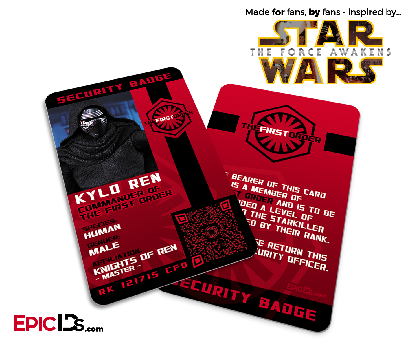 star wars tfa inspired the first order kylo ren security badge