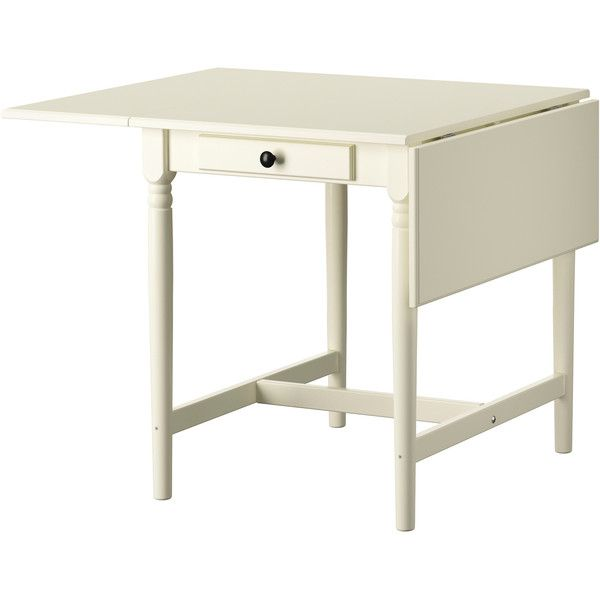 Ikea Ingatorp Drop Leaf Table White 129 Liked On Polyvore Featuring Home Furniture Tables Dining Table Drop Leaf Table Ikea Drop Leaf Table Leaf Table