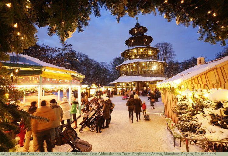 Weihnachtsmarkt Am Chinesischen Turm.Christkindlmarkt Am Chinesischen Turm Englischer Garten München