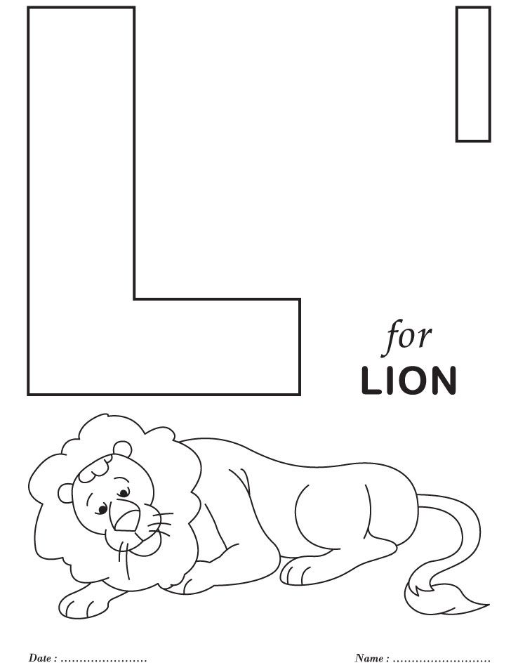 Printables Alphabet L Coloring Sheets | Colouring activity ...