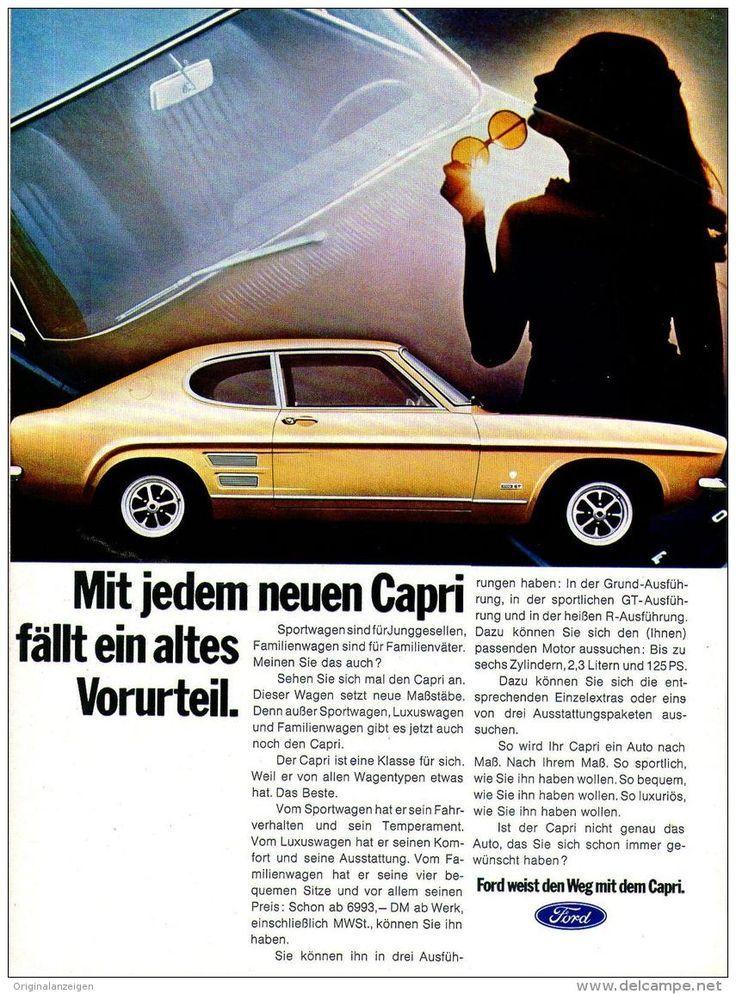 Originalwerbung / Werbung 1969 - FORD CAPRI - Ca. 180 x 240 mm (Artikel-Nr . 384322356)  - Vintag