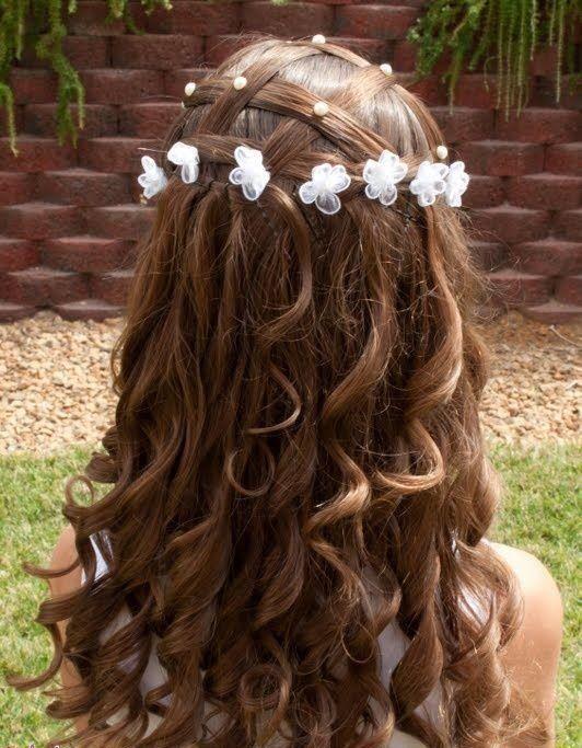 Beauty Me اجمل تسريحات شعر الاطفال 2013 Hair Styles First Communion Hairstyles Flower Girl Hairstyles