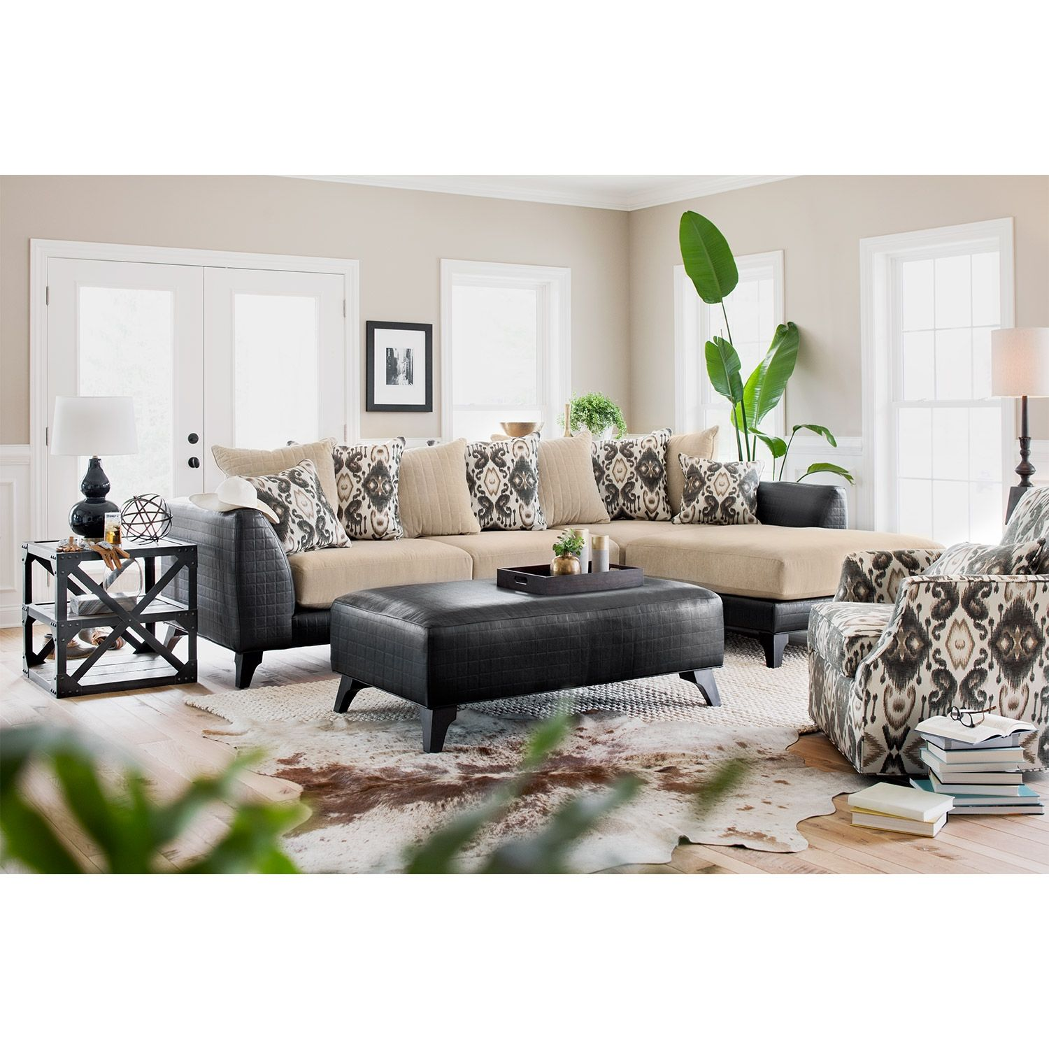 Charming Living Room Furniture   Gotham 2 Pc. Sectional