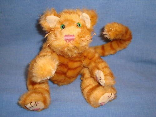 Ty Beanie Babies Attic Treasures Orange Cat Basil Striped