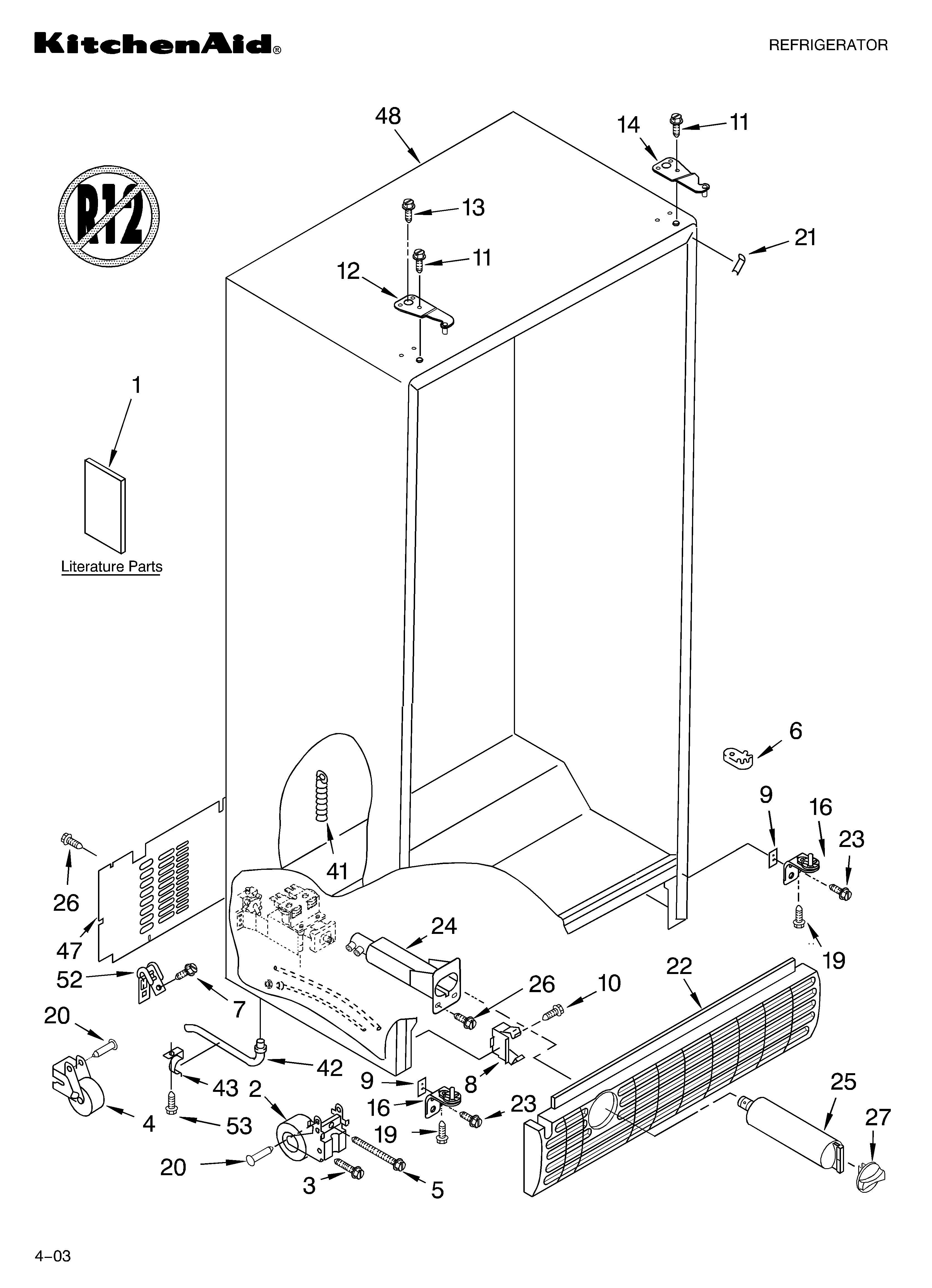 50 Kitchenaid Superba Refrigerator Parts Diagram Up2n Di 2020
