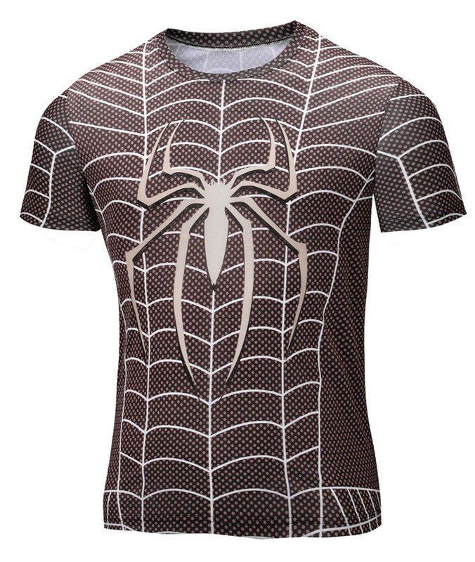 9caf124e1af935 Spiderman Compression Shirt Swing through the city with this Moisture  Wicking Spider-Man Compression Shirt today! - Wear-Resistant - UV  Protection ...