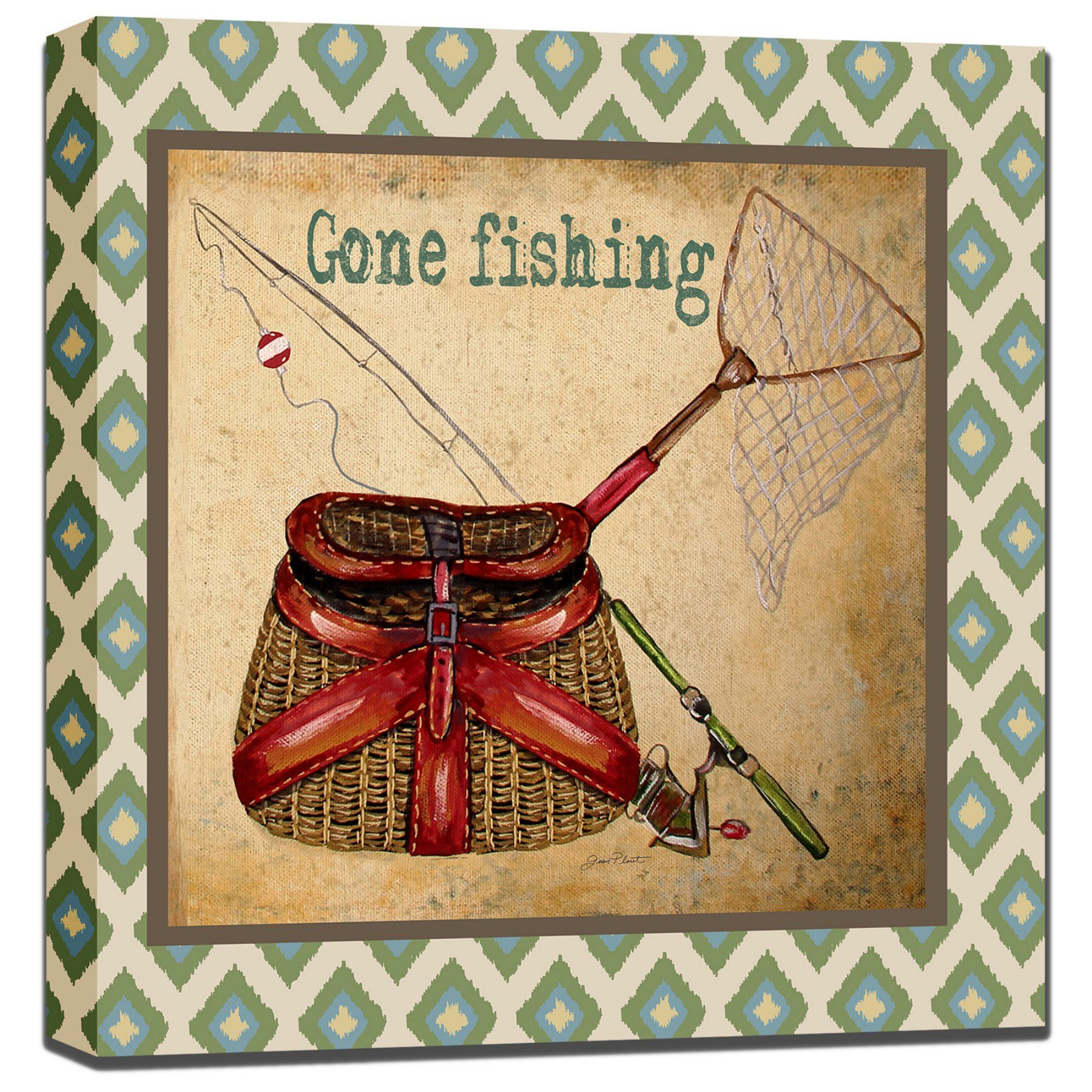 West of the Wind Gone Fishing Outdoor Wall Art - 80415-24 (GONE ...