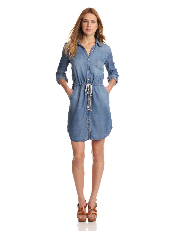 Splendid women 39 s indigo chambray shirt dress price 198 for Where to buy womens button up shirts