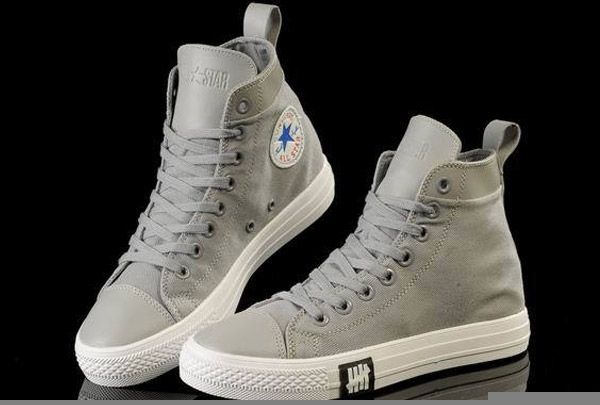 2609eaf1f119  converse Unisex Light ox Converse Chuck Taylor All Star leather Grey  Canvas High Tops Sneakers