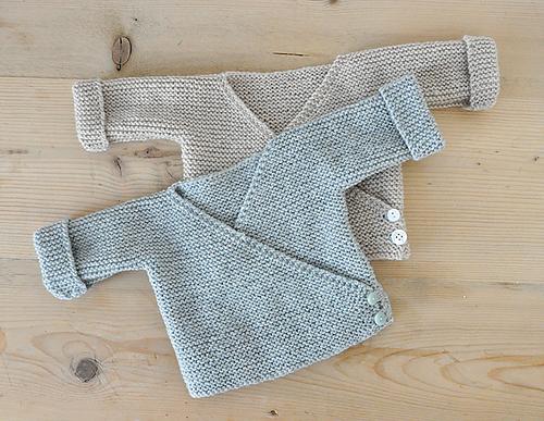 Free Knitting Pattern Garter Stitch Baby Cardigan Downloadable NOW!