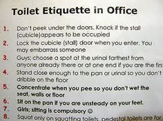 Free Humorous Images Of Toilet Etiquette  Google Search  Recipes Amusing Bathroom Etiquette Signs For Office Design Decoration