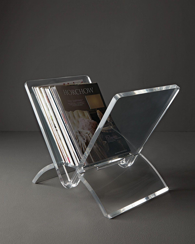 Interlude Home Versa Acrylic Magazine Rack Acrylic Decor Acrylic Furniture Decor Acrylic Furniture