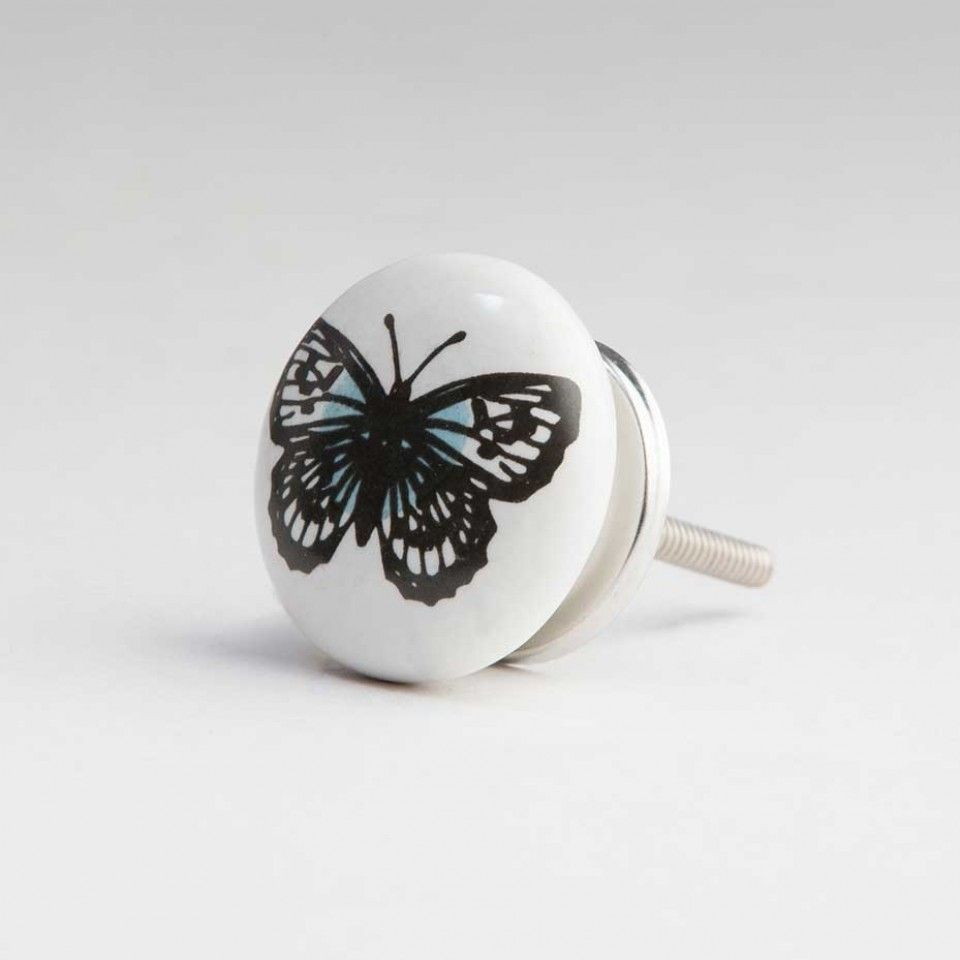 Butterfly Ceramic Door Knob | http://retrocomputinggeek.com ...