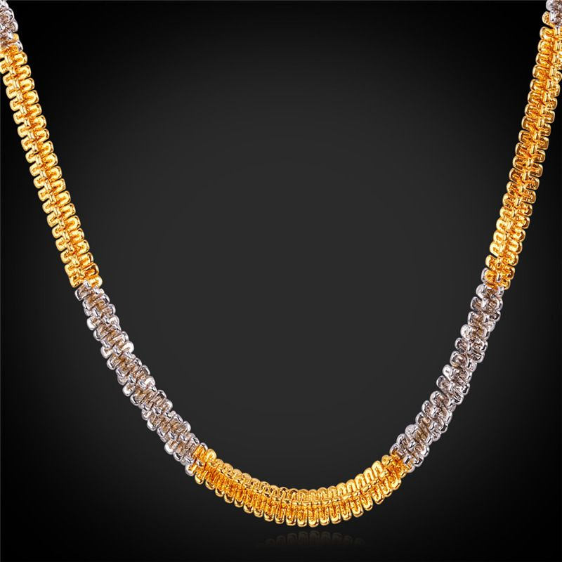 Twisted Singapore Chain Necklace Fashion Jewelry 22 55CM 6MM