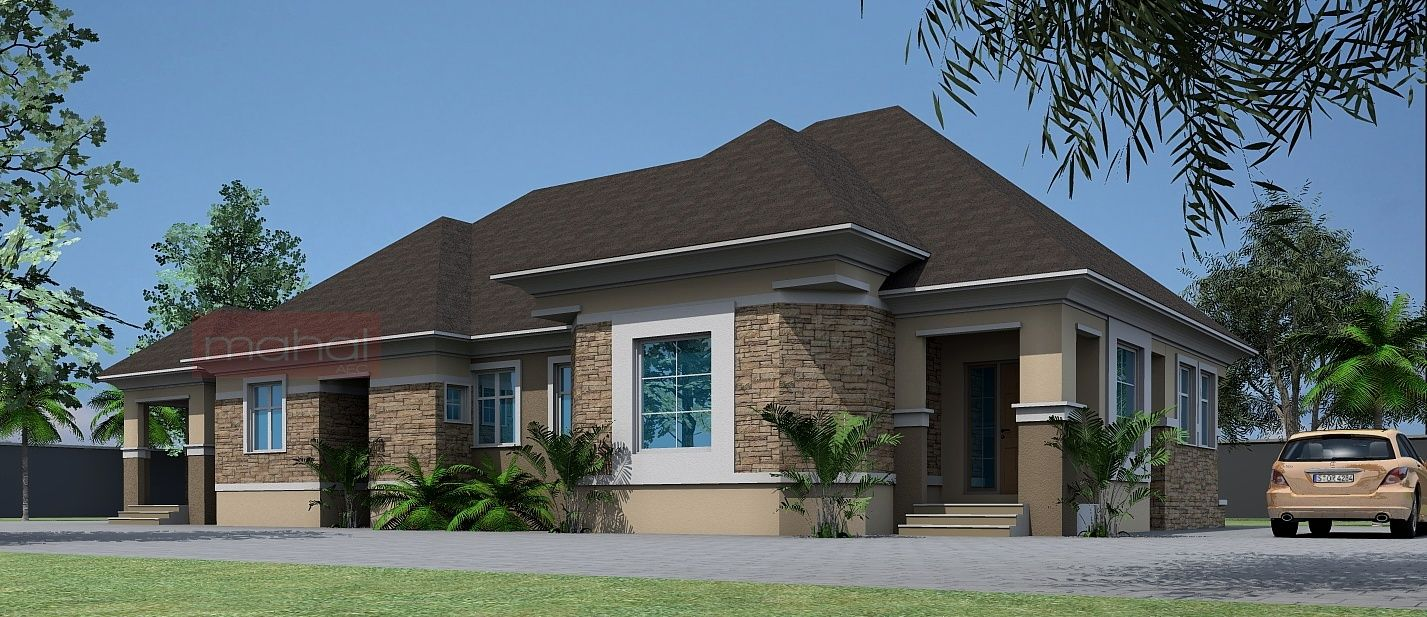 Contemporary Nigerian Residential Architecture 4 Bedroom Bungalow · Bungalow  House DesignModern ...
