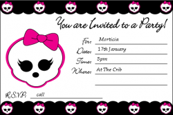 Free printable birthday party invitations templates monster high image detail for monster high invite monster high invitations free printable ideas bookmarktalkfo Choice Image