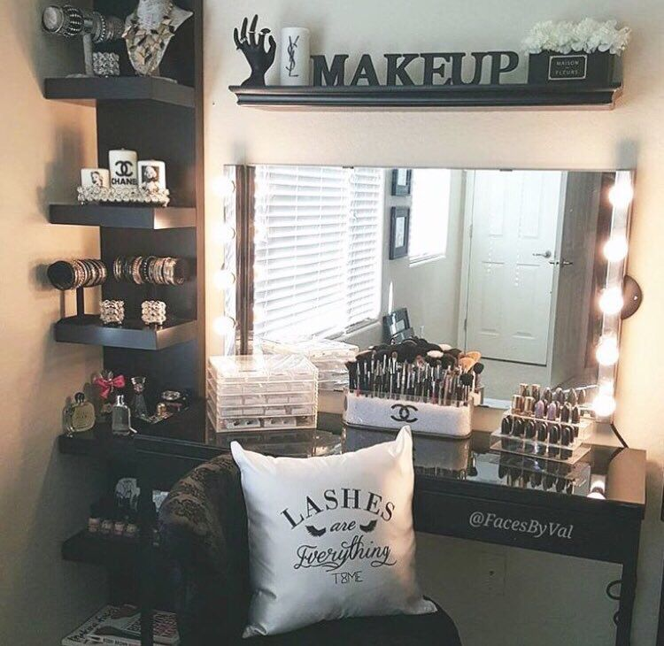 Makeup Room Ideas Room DIY (Makeup Room Decor) Makeup Storage Ideas For  Small Space   Tags: Makeup Room Ideas, Makeup Room Decor, Makeup Room  Furniture, ...