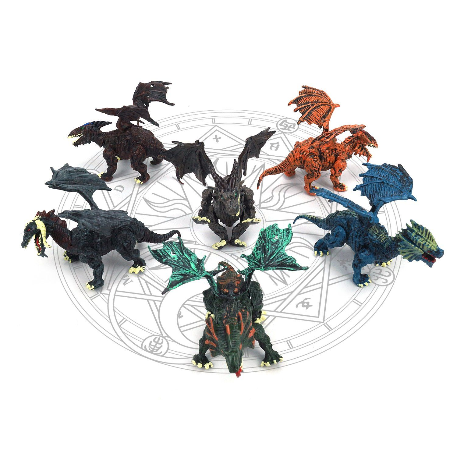 Dragon Toys Dragon Figures for Toddler Kids set of 6 Best take