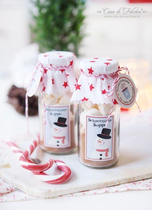 Geschenke Rezepte Weihnachten.Schneemannsuppe Verpackung Christmas Schneemannsuppe