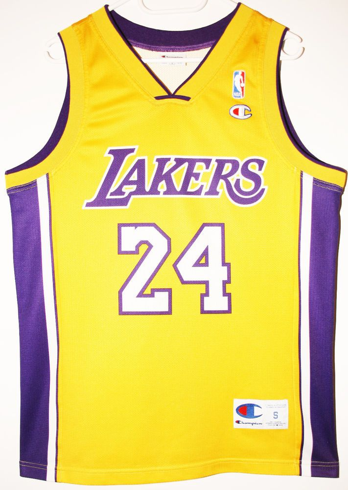 wholesale dealer 477f7 fc202 Champion NBA Basketball Los Angeles Lakers #24 Kobe Bryant ...