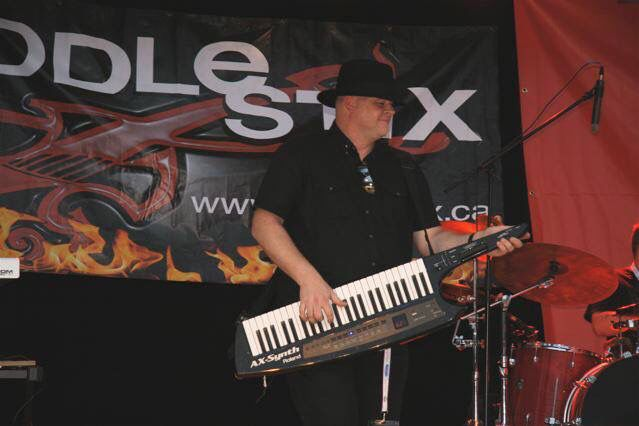 Jeff playing his keytar. Photo taken by Deb Hoffman and used with permission.