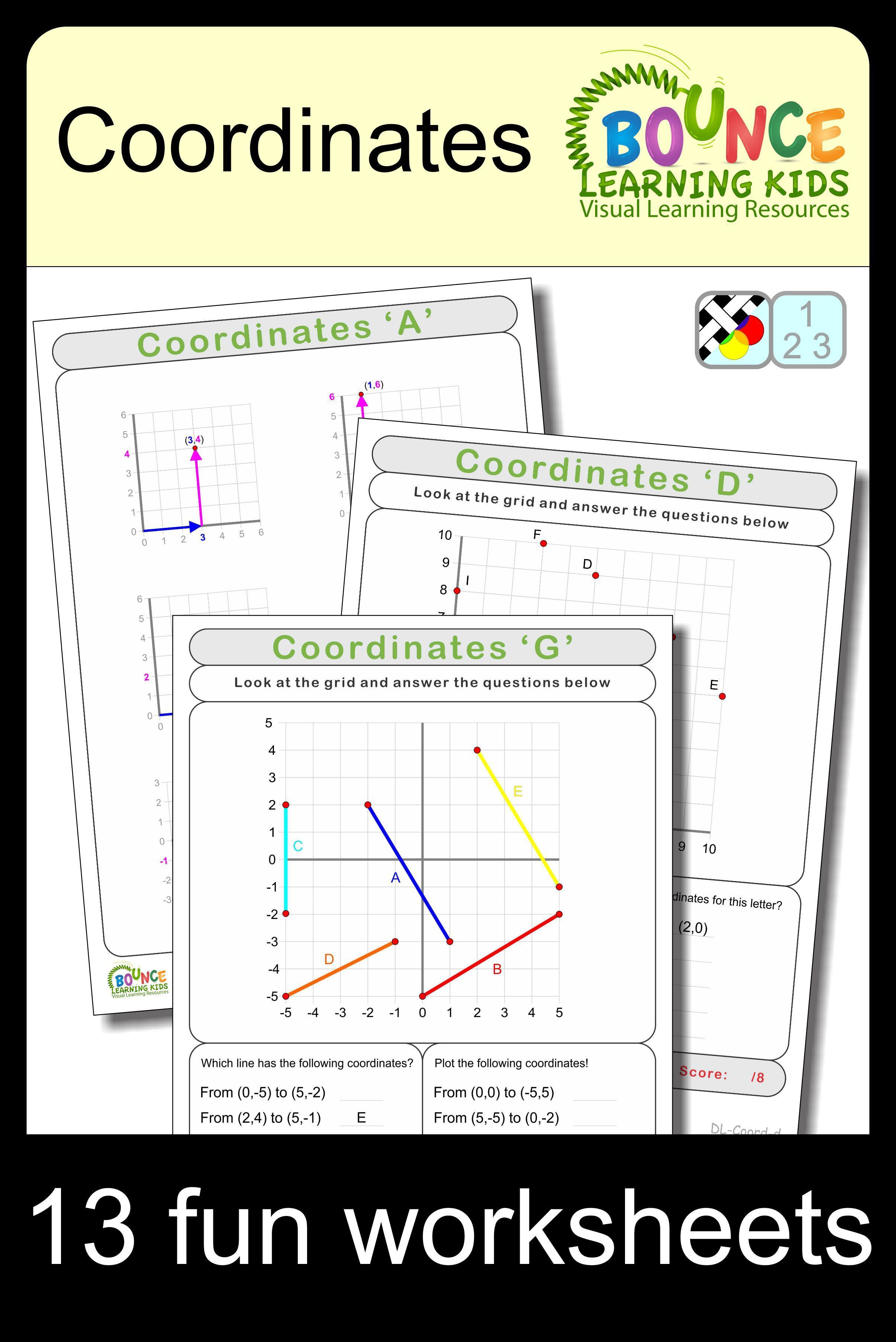 Coordinates 13 Distance Learning Worksheets For Numeracy