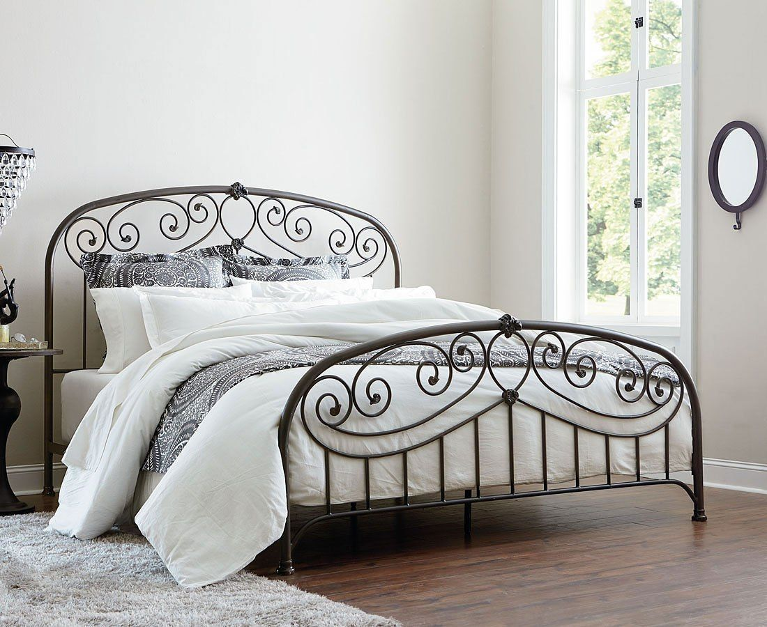 Lillian Youth Metal Bed Black In 2020 Headboard And Footboard
